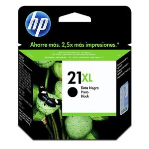 cartucho hp 21xl preto